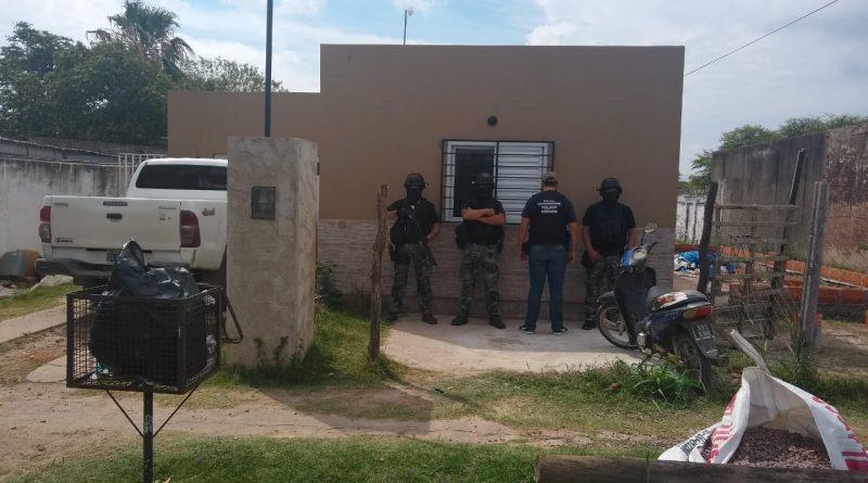 Ceres: La Brigada Antinarcóticos allanó un domicilio y secuestró cocaína, marihuana, dinero y armas de fuego