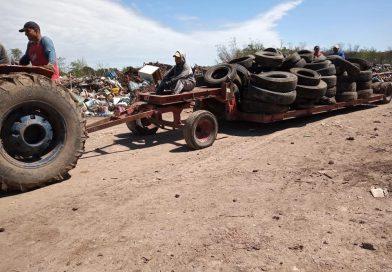 3500 neumáticos ya están listos para su tratamiento de reciclado