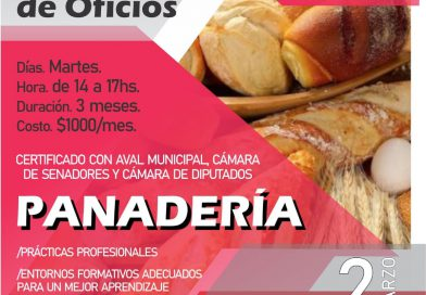 Abren las inscripciones para los cursos de Panadería, Pastelería, Carpintería y Electricidad