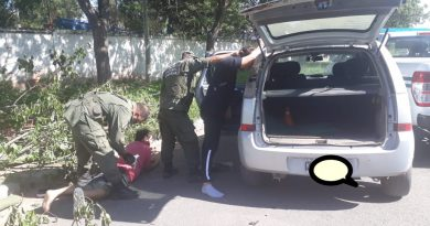 Tras un control de Gendarmería 2 masculinos intentan darse a la fuga. Tenían marihuana