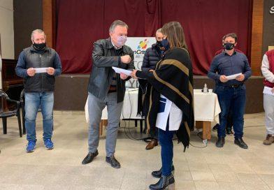 El Senador Michlig acompañó al Intendente Rigo en el acto de entrega de aportes a instituciones educativas